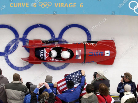 HAYS HINES Todd Hays and Garrett Hines of the United States in USA-1 compete during the men's two-man bobsled at the 2002 Salt Lake City Winter Olympics in Park City, Utah