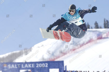 POWERS USA's Ross Powers competes during the men's halfpipe qualifying competition, in Park City, Utah. Powers and teammates Danny Kass and J.J. Thomas made history on the halfpipe Monday, giving the United States its first medals sweep in the Winter Olympics in 46 years
