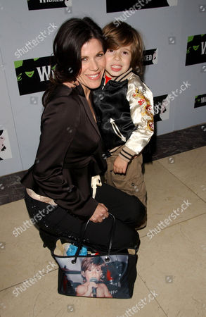 Tricia Leigh Fisher and son Holden