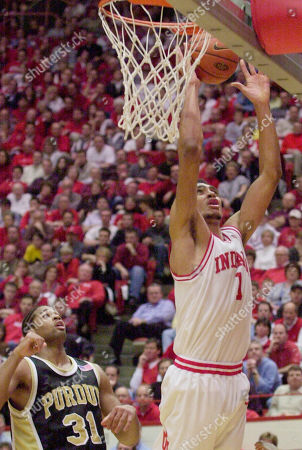 SMITH JEFFRIES Indiana forward Jared Jeffries, right, goes up for a shot against Purdue forward Rodney Smith in the second half in Bloomington, Ind., . Indiana won 66-52. Jeffries finished the game with 26 points