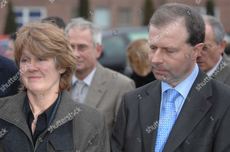 Patrick and Anne Rice, parents of murdered model Rebecca Rice, leaving Norwich Crown Court after Stuart Adcock received a minimum of 16 years in prison for Rebecca's murder.