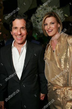 Peter Morton and Linda Evangelista
