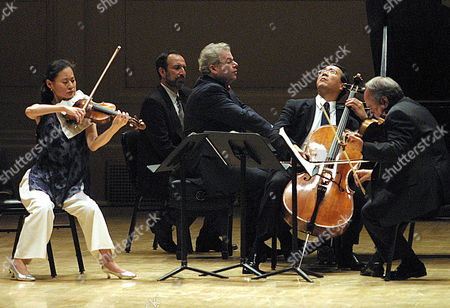 LAREDO Violinist Midori, left, pianist Emanuel Ax, third from left, cellist Yo-Yo Ma, second from right, and Jaime Laredo, right, perform Wolfgang Amadeus Mozart's Piano Quartet in E-flat Major during a memorial tribute to the late Isaac Stern at Carnegie Hall in New York, . Carnegie Hall will dedicate its entire 2001-2002 season to the legacy of the celebrated violinist. The unidentified man second from left is the page-turner