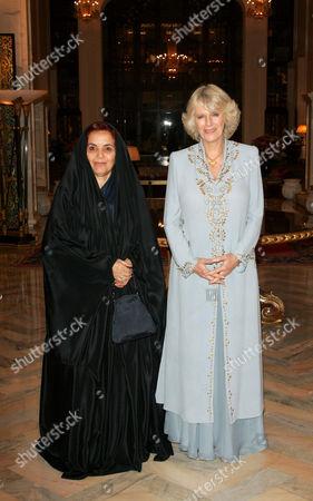 Stock Image of Queen Sabika bint Ibrahim Al Khalifa and Camilla Duchess of Cornwall