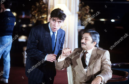 Saeed Jaffrey (left) and Daniel Peacock in 'Hard Cases' - 1988