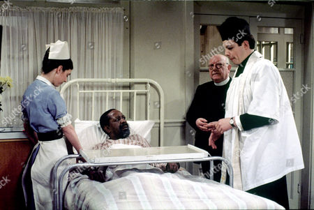Daniel Albineri and Arthur Lowe in 'Bless Me Father' - 1979