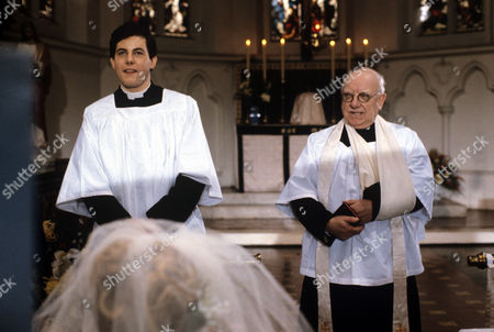 Daniel Albineri and Arthur Lowe and Daniel Albineri in 'Bless Me Father' - 1979
