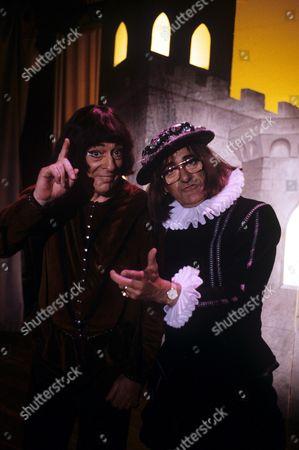 Stock Photo of John Junkin and Jim Bowen in 'News At Twelve' - 1987