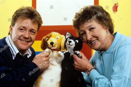 Keith Chegwin (left) and Pat Coombs in 'Playbox' - 1988
