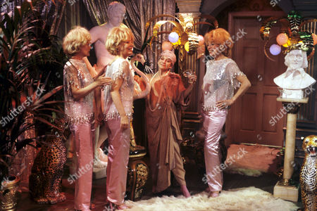 Joan Greenwood (2nd right) with the Beverley Sisters in 'Girls On Top' - 1985
