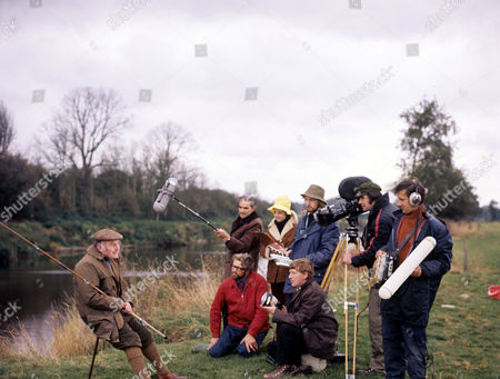 Terry Thomas filming an episode for 'Heart of the Country' - 1982