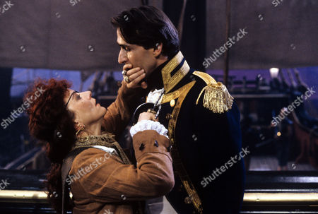 Helen Atkinson-Wood and Nicholas Pritchard in a scene from 'Tales from the Poop Deck' - 1992
