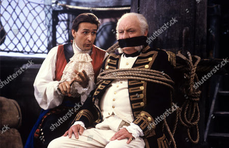 Nicholas Pritchard and Charles Gray in a scene from 'Tales from the Poop Deck' - 1992
