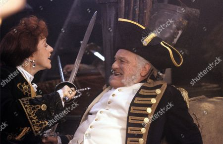 Helen Atkinson-Wood and Charles Gray in a scene from 'Tales from the Poop Deck' - 1992