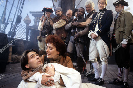 Nicholas Pritchard and Helen Atkinson-Wood in a scene from 'Tales from the Poop Deck' - 1992