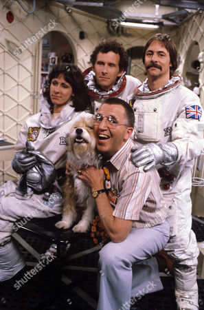 Christopher Godwin, Carmen du Sautoy, Barrie Rutter and Bruce Boa in 'Astronauts' - 1981 - Series 1 -