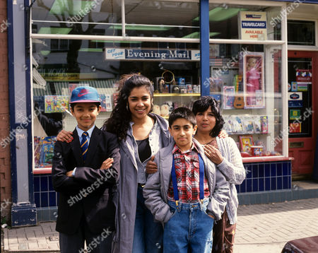 Kim Vithana (2nd left) in 'Family Pride' - 1992