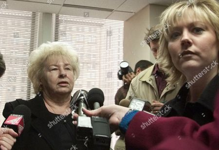 MISENER TERMARSCH Gloria Misener, left, and Lindy Termarsch, Leann Fletcher's mother and sister respectfully, meet the media after Judge Susan Chrzanowski met the Judicial Tenure Commission in Detroit, . Chrzanowski has been suspended with pay since her ex-lover, Michael Fletcher, was convicted June 30 of second-degree murder in the shooting death of his pregnant wife, Leann. The commission, a state watchdog agency, held the hearing Monday on whether Chrzanowski should be punished for violating standards of judicial ethic. Misener and Termarsch are hopeful the commision will side with the commission's examiner in blaming Chrzanowski for Fletcher's death
