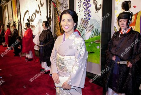 "YOSHINAGA Japanese actress Sayuri Yoshinaga poses at a screening of her movie ""Genji-A Thousand Year Love,"" Wednesday night, in the Hollywood area of Los Angeles"