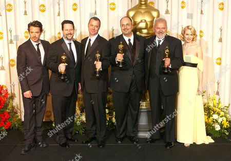 Robert Downey Jnr, John Knoll, Hal Hickel, Charles Gibson, Allen Hall and Naomi Watts