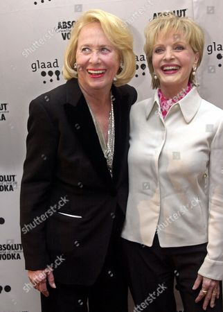 SMITH HENDERSON New York columnist Liz Smith, left, and actress Florence Henderson at the GLAAD (Gay & Lesbian Alliance Against Defamation) Media Awards in New York. Smith received the Vito Russo award