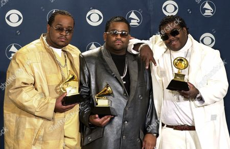 JERKINS DANIELS Songwriters, from left, LaShawn Daniels, Fred Jerkins III and Rodney Jerkins display the Grammy for best R&B song backstage at the 43rd annual Grammy Awards, at the Staples Center in Los Angeles