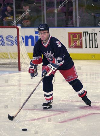 MORANIS Actor Rick Moranis skates during the 3rd Annual Superskate Charity Hockey event at New York's Madison Square Garden, . Celebrities and hockey players teamed up to play hockey for the benefit of NYR Skate and The Christopher Reeve Paralysis Foundation