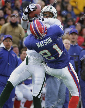 WATSON Buffalo Bills' Chris Watson breaks up a pass intended for New York Jets' Matthew Hatchette during the second quarter at Ralph Wilson Stadium in Orchard Park, N.Y