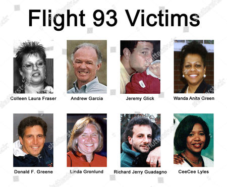 LYLES Some of the victims from United Flight 93 that crashed in Shanksville, Pa., are shown in this undated photos. Colleen Laura Fraser, 51, Elizabeth, N.J., Andrew Garcia, 62, Portola Valley, Calif., Jeremy Glick, 31, Hewlett, N.J., Wanda Anita Green, 49, Linden, N.J., Donald F. Greene, 47, Greenwich, Conn., Linda Gronlund, 46, Greenwood Lake, N.Y., Richard Jerry Guadagno, 39, Eureka, Calif., CeeCee Lyles, 33, Fort Myers, Fla
