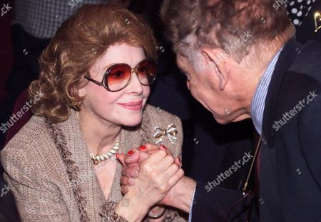 MEADOWS, STILLER Actress Jayne Meadows is consoled by comedian Jerry Stiller at a memorial service for her husband Steve Allen at the Academy of Television Arts & Sciences on in the North Hollywood section of Los Angeles. Allen died on Oct. 30, 2000