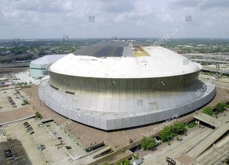 SUPERDOME Work continues on replacing the roof of the Louisiana Superdome in New Orleans, . Envision, a sports marketing firm, was chosen Monday, Aug. 6, 2001 to sell the naming rights to the Louisiana Superdome. Envision was created as a joint venture between former ProServ managing director Jeff Knapple and Philip Anschutz, owner of the Los Angeles Kings
