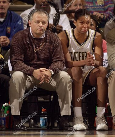 FOSTER Vanderbilt center Chantelle Anderson, right, sits on the bench next to head coach Jim Foster after fouling out in the second half of their 70-64 loss to Tennessee, in Nashville, Tenn. Anderson, Vanderbilt's leading scorer this season, was held to six points in the loss