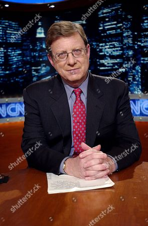 """GREENFIELD Veteran news analyst Jeff Greenfield poses on the set for his new show, """"Greenfield at Large,"""" at a CNN studio in New York . The half-hour show, airing weeknights on CNN at 10:30 p.m., EDT, is designed to elicit a round-table discussion about a topic of the day"""