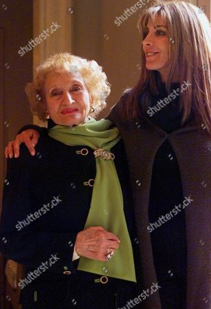"""Stock Photo of GRUBER RICHARDSON Dr. Ruth Gruber, left, and actress Natasha Richardson pose for a photo Jan. 9, 2001, at the Ritz Carlton Huntington Hotel in Pasadena, Calif. Richardson portrays Gruber in the CBS miniseries, """"Haven,"""" which recreates Gruber's struggle to get the U. S. government to accept refugees from the Holocaust and allow them to become citizens. It airs Sunday, Feb. 11, and, at 9 p.m., EST"""