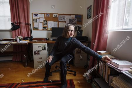 Stock Image of American author Lydia Davis at her home in Albany, USA