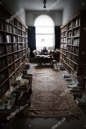 Stock Picture of American author Lydia Davis at her home in Albany, USA