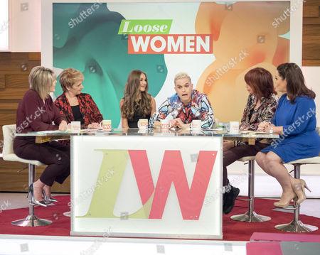 Stock Photo of Ruth Langsford, Anne Diamond, Nikki Grahame, Pete Bennett, Janet Street-Porter and Lisa Riley
