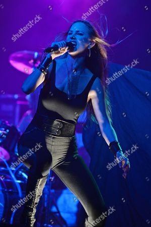 Editorial image of Huntress in concert at Revolution, Fort Lauderdale, Florida, USA - 19 Oct 2016