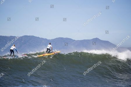 Kai Lenny paddling in Heavy Water in San Francisco