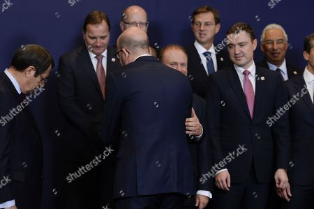 Martin Schulz, Charles Michel, Nicos Anastasiades, Stefan Lofven, Juha Sipila, Miro Cerar, Taavi Roivas, Antonio Costa