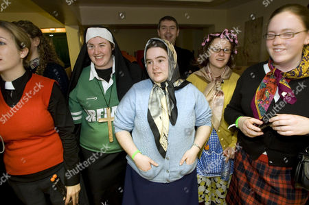 Fans dressed as 'Mrs Doyle' at the inaugural 'Father Ted' festival marking the ninth anniversary of the death of Dermot Morgan, the star of the series.