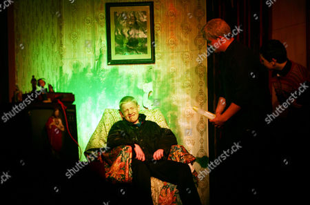 Stock Image of 'Father Ted' being performed on stage by the local amateur dramatics society at the inaugural 'Father Ted' festival marking the ninth anniversary of the death of Dermot Morgan, the star of the series.