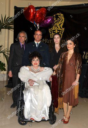 Elizabeth Taylor, with children Michael Wilding Jnr., Christopher Wilding, Maria Burton and Liza Todd Burton