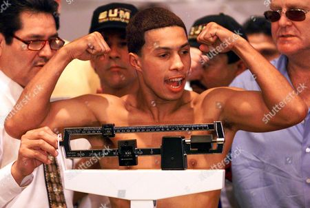 CAMACHO JR Hector Camacho Jr. weighs in at 140 lbs., at the Hilton Hotel in Phoenix. Camacho Jr. faces Philip Holiday for the World Boxing Asscocition North American Super Lightweight Championship Saturday in Phoenix