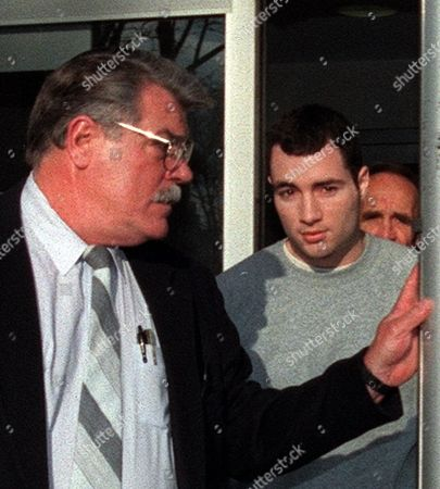 Stock Photo of PACIELLO Former nightclub owner Chris Paciello, right, leaves Brooklyn Federal Courthouse in New York, . Paciello was released on bail pending trial in September 2000 on murder charges. The man at left is a private security guard in Paciello's employ