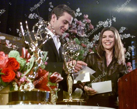 """FUMERO HUGHES David Fumero, of ABC-TV's """"One Life to Live,"""" and Finola Hughes, from ABC-TV's """"All My Children,"""" take part in reading the nominations for the 27th Annual Daytime Emmy Awards in New York, Wednesday morning March 15, 2000. The winners will be awarded their statues at Radio City Music Hall"""