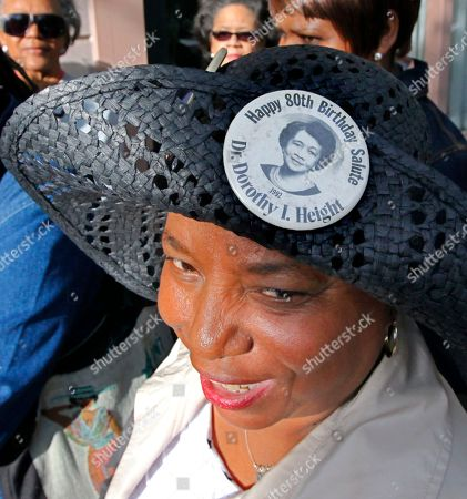 Annette Edwards Annette Edwards of Washington wears a button in her hat commemorating the 80th birthday celebration of Dorothy Height as she waits in line to pay respects to the civil rights heroine as her casket arrived at the National Council of Negro Women in downtown Washington, . Height died April 20 at the age of 98