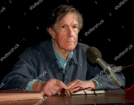 JOHN CAGE Famed avant-garde composer and poet John Cage lectures at Sanders Theater at Harvard University in Cambridge, Mass. in 1989. Cage, 76, has been honored by Harvard with the post of Charles Eliot Norton Professor of Poetry