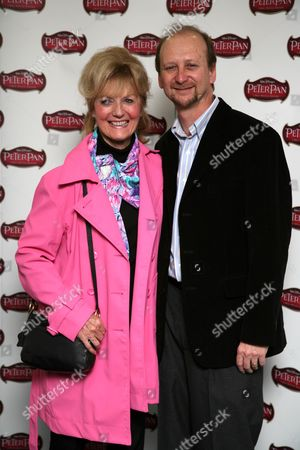 Kathryn Beaumont, the original voice of Wendy, and Andy Siditsky, Senior vice president of Buena Vista