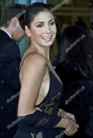 Stock Photo of MANTEROLA Mexican star Patty Manterola arrives for the first annual Latin Grammy Awards in Los Angeles